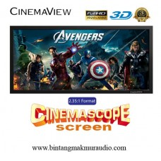"Cinemaview CinemaScope 2.35 : 1 125"" inch"