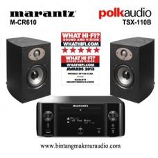 Marantz MCR-610 + Polk Audio TSX-110B Paket Mini Hifi
