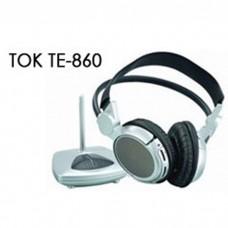 TOK TE860 Rechargeable Wireless UHF Headphone